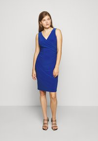 Lauren Ralph Lauren - MID WEIGHT DRESS - Jersey dress - summer sapphire - 0