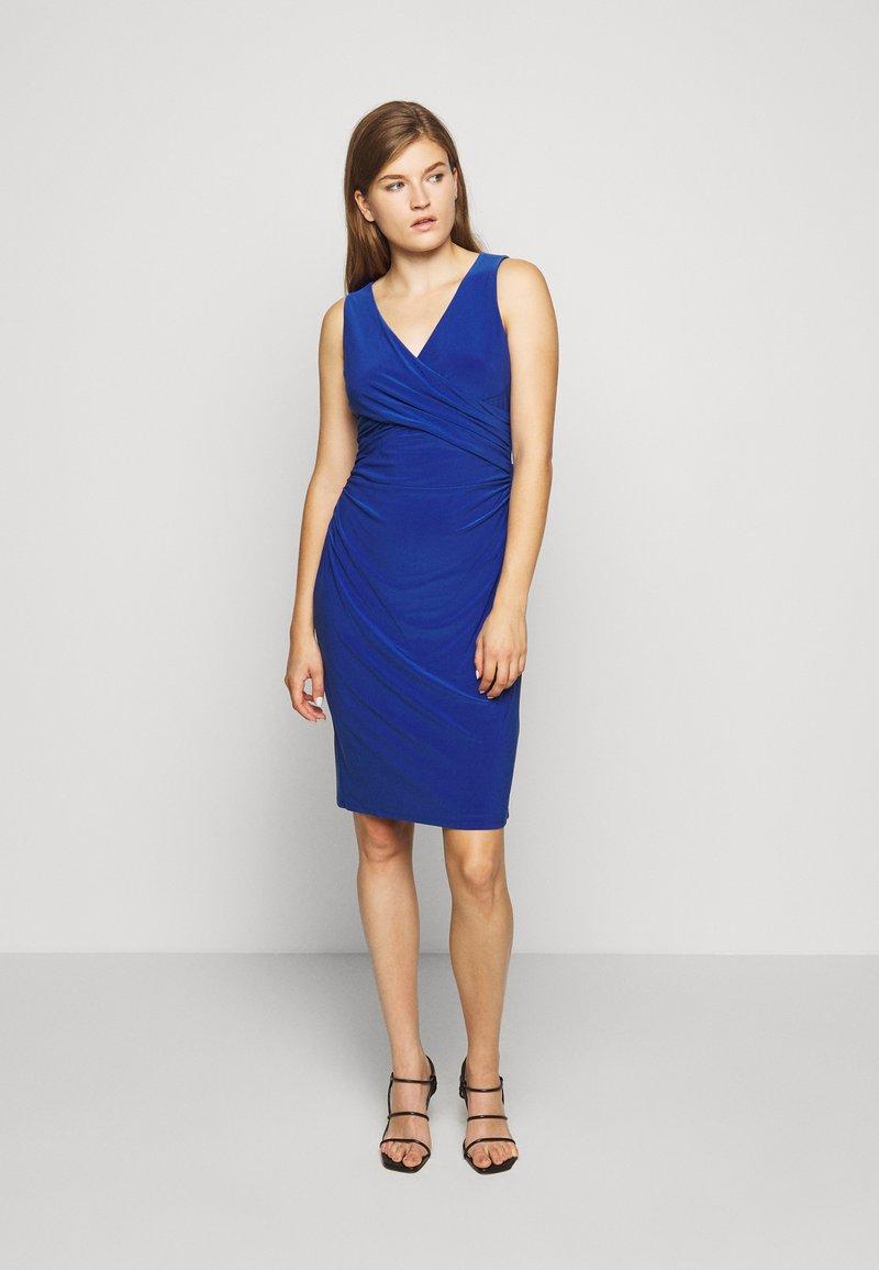 Lauren Ralph Lauren - MID WEIGHT DRESS - Jersey dress - summer sapphire