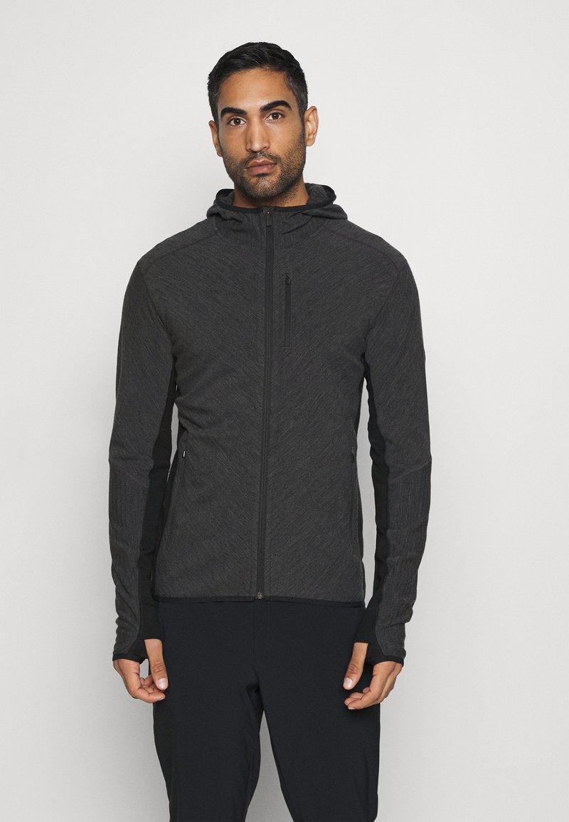 Icebreaker - MENS DESCENDER ZIP HOOD - Training jacket - grey