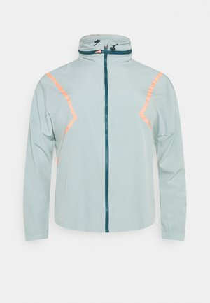 ONPFERR TRAIN CURVY - Training jacket - gray mist/neon orange
