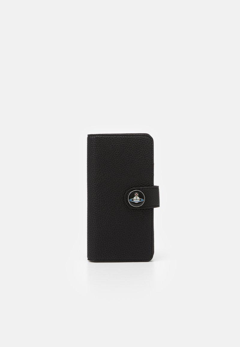 Vivienne Westwood - JOHANNA FLAP IPHONE CASE - Phone case - black