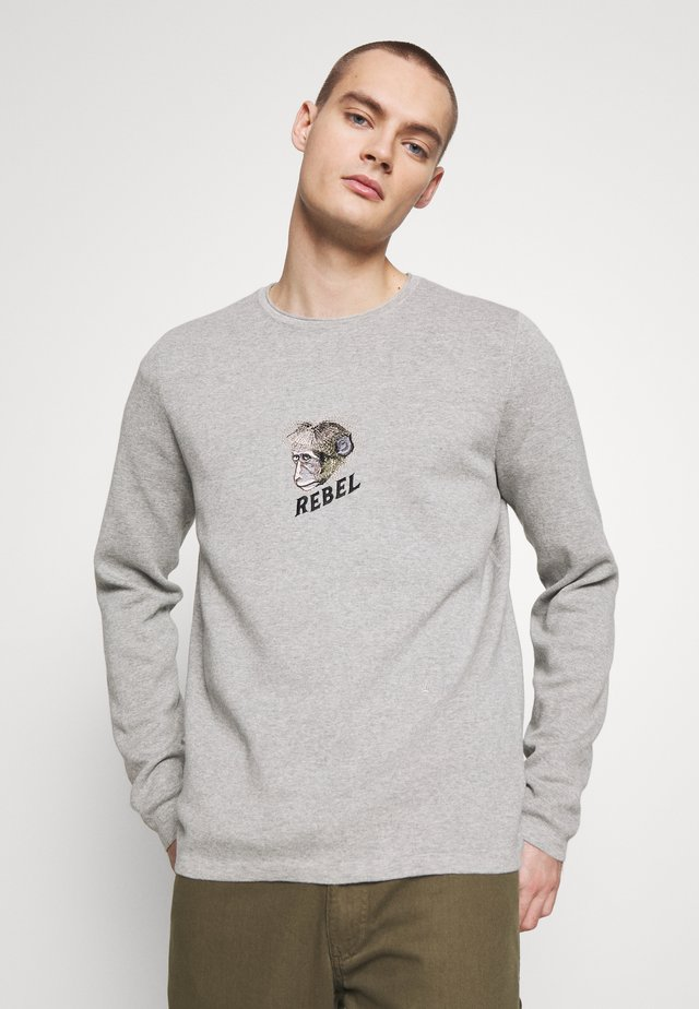 MONKEY ARTWORK KNIT JUMPER - Jersey de punto - grey