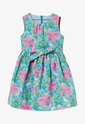 VINTAGE - Day dress - wasserblau/tropencharme