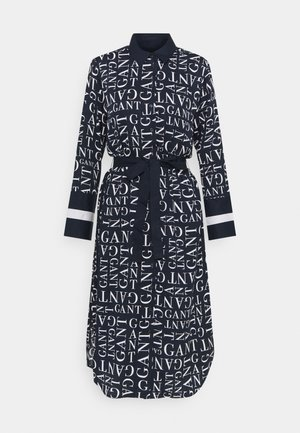 WORD DRESS - Day dress - evening blue