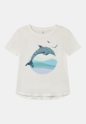 GIRL FLIPPY - Print T-shirt - new off white