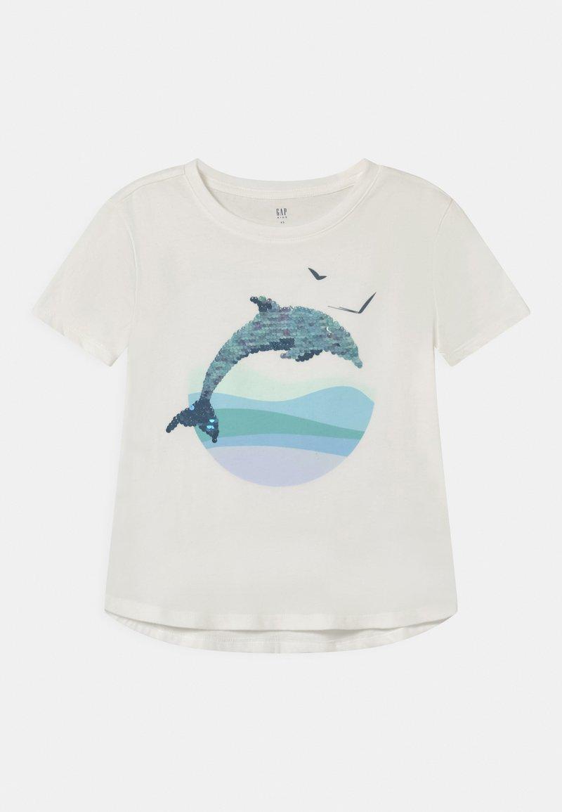 GAP - GIRL FLIPPY - Print T-shirt - new off white