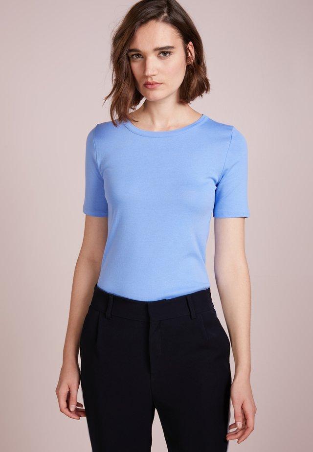 CREWNECK ELBOW SLEEVE - T-shirt basic - shale blu