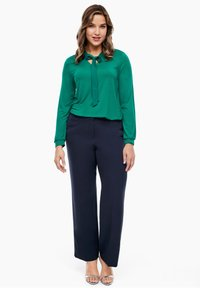 Triangle - REGULAR FIT: STRAIGHT LEG-HOSE - Trousers - navy - 1