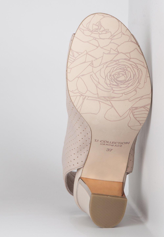 TJ Collection Peeptoe heels - nude