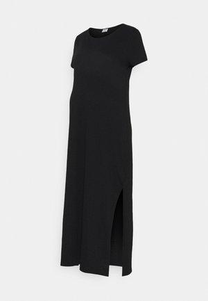 MATERNITY SHORT SLEEVE MIDI DRESS - Jersey dress - black