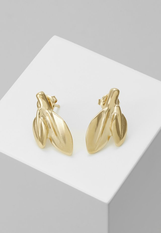 MY NATURE LEAF CHARM EARRING - Örhänge - gold-coloured