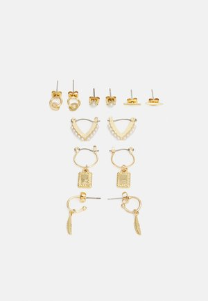 EARRINGS 6 PACK - Øredobber - gold-coloured