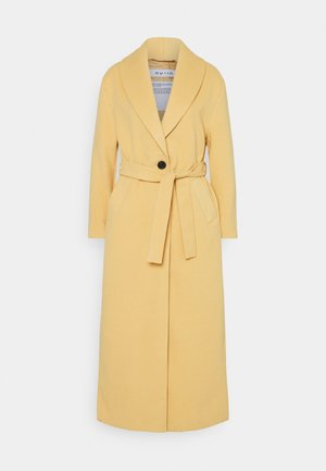 SHAWL COLLAR LONG COAT - Manteau classique - camel
