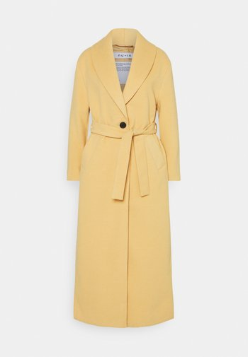 SHAWL COLLAR LONG COAT - Klasický kabát - camel
