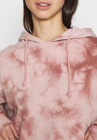 Topshop - TIE DYE HOODY - Sweatshirt - pink - 5