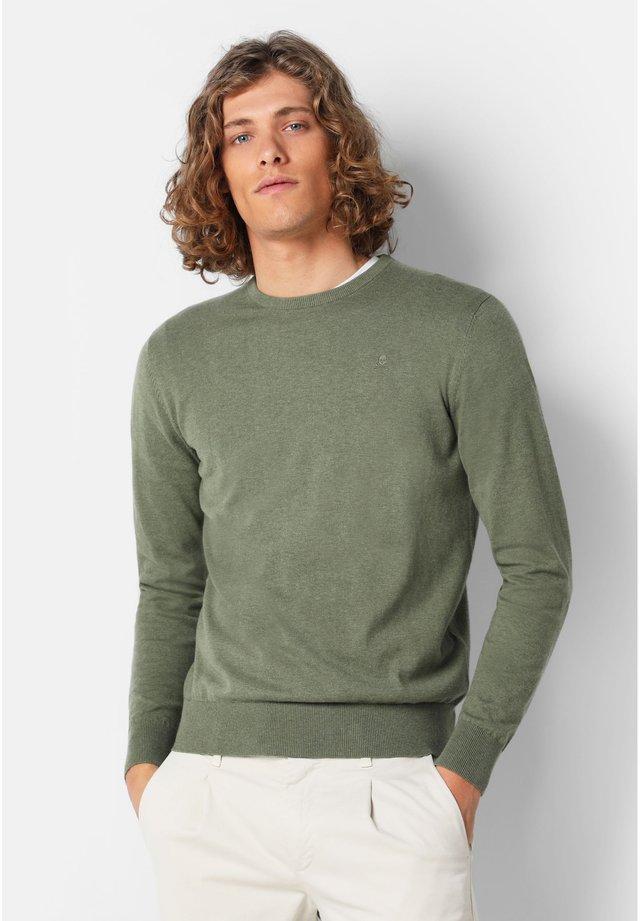 Pullover - light khaki melange