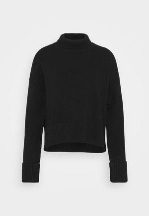 TURTLENECK JUMPER - Svetr - black dark