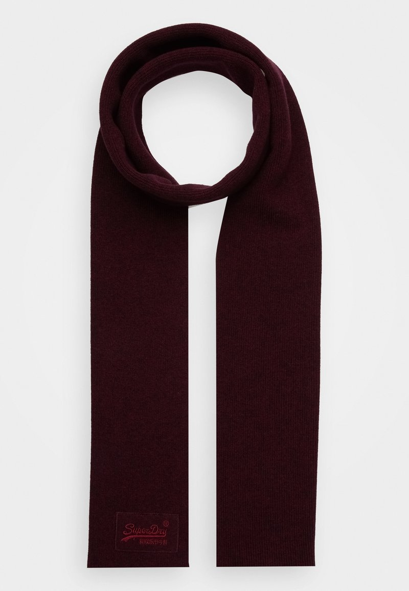 Superdry - LABEL - Scarf - cranberry grit