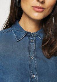 Marc O'Polo - BLOUSE LONG SLEEVE - Button-down blouse - denim blue - 5