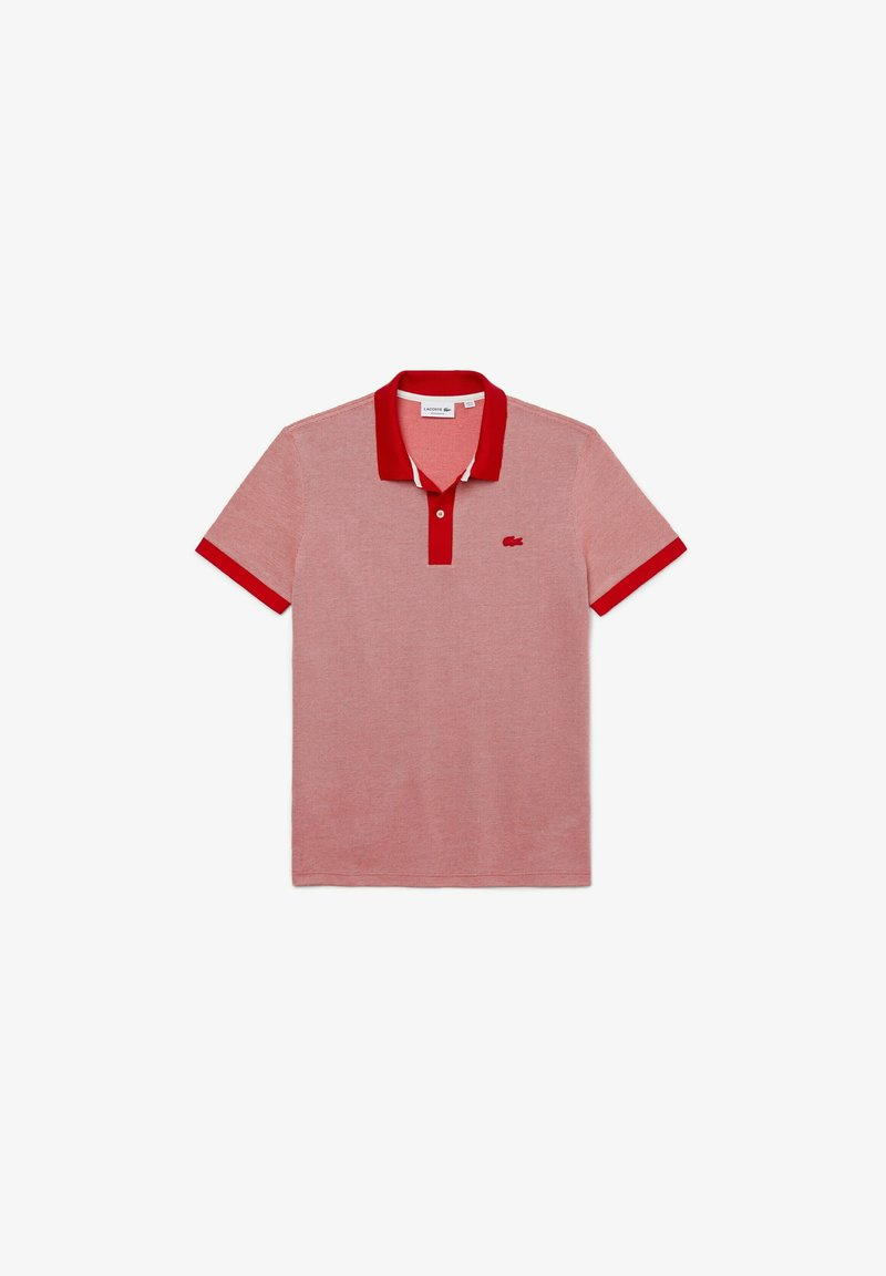 Lacoste - Polo shirt - rot/rosa/weiß