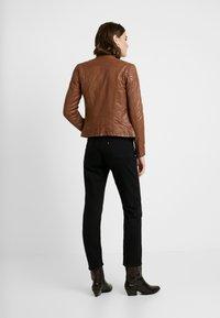 NAF NAF - CLIM - Leather jacket - cognac - 2
