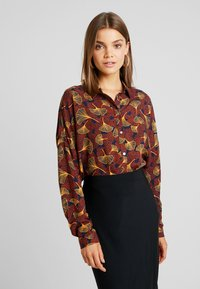 Vila - VIOPENING PEYTON - Button-down blouse - navy blazer/kecthup - 0