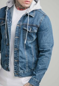 SIKSILK - JACKET WITH DETACHABLE HOOD - Spijkerjas - blue denim - 4