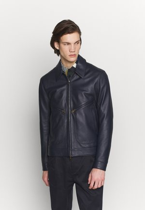 GENTS JACKET - Veste en cuir - dark blue