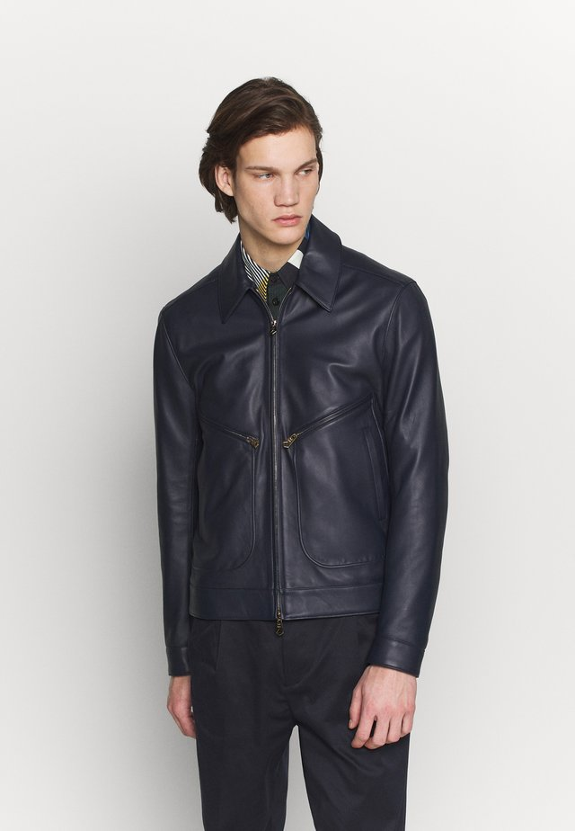 GENTS JACKET - Leather jacket - dark blue