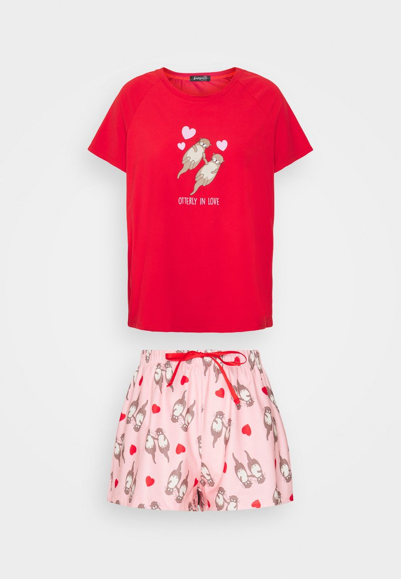 Loungeable - HEART - Pyjamas - red
