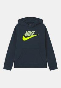 Nike Sportswear - CLUB - Bluza z kapturem - deep ocean/barely volt - 0