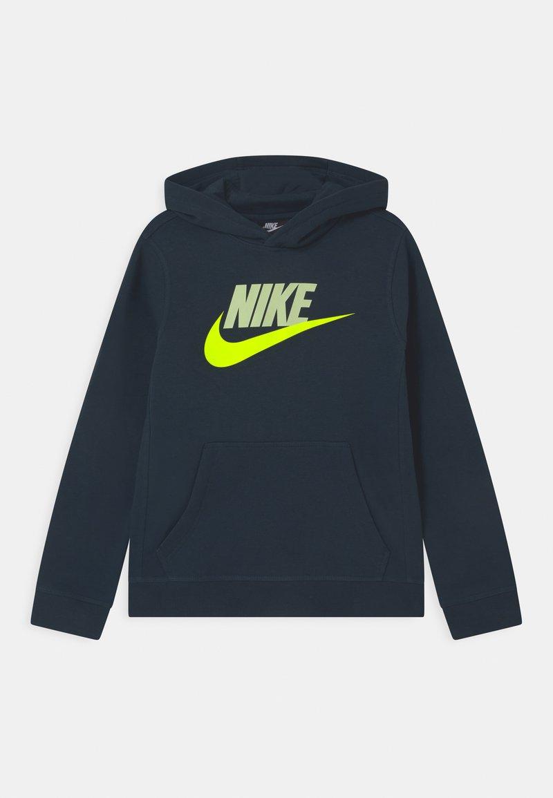 Nike Sportswear - CLUB - Bluza z kapturem - deep ocean/barely volt