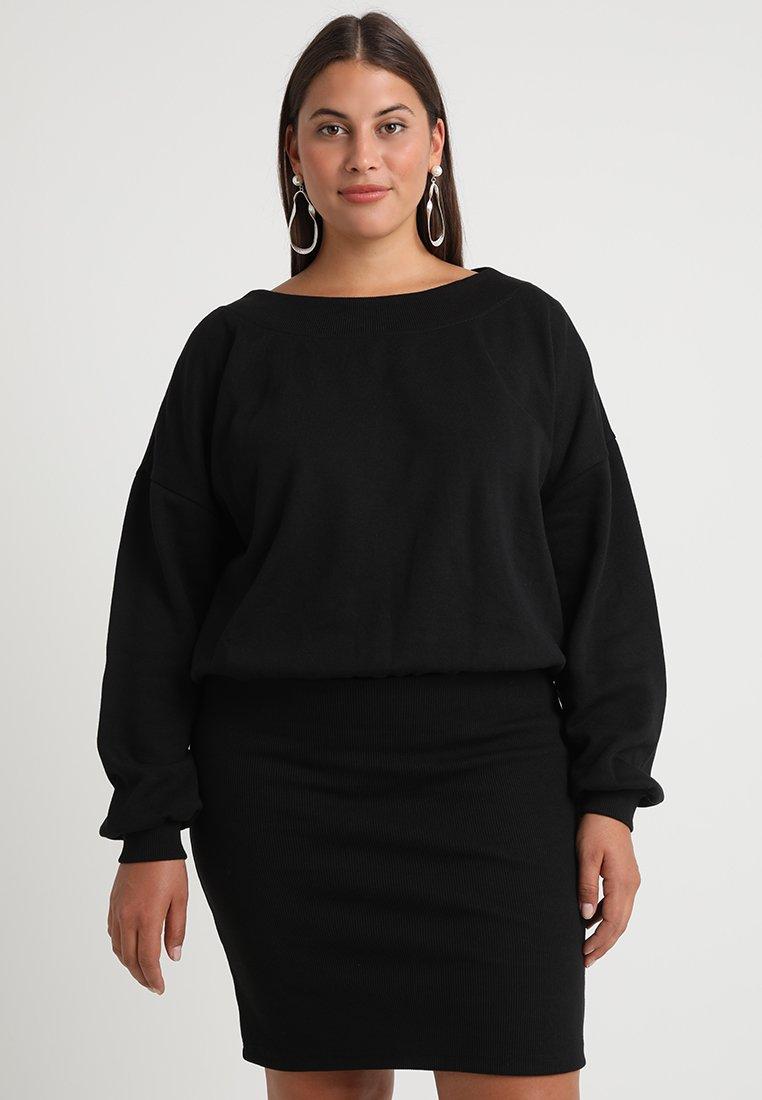 Urban Classics Curvy - LADIES DRESS - Denní šaty - black
