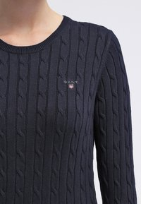 GANT - CABLE CREW - Pullover - evening blue - 4
