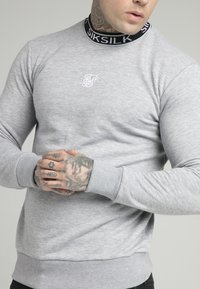 SIKSILK - ESSENTIAL HIGH NECK - Mikina - grey - 4