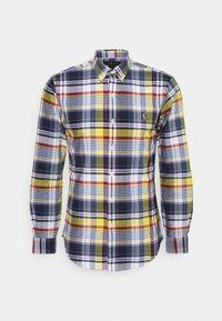 Polo Ralph Lauren - SLIM FIT PLAID OXFORD SHIRT - Shirt - yellow/blue multi - 6