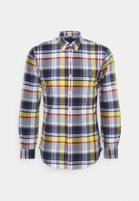 LONG SLEEVE SPORT SHIRT - Shirt - yellow/blue multi
