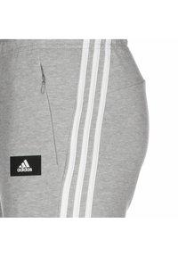 adidas Performance - FUTURE ICON 3-STRIPES  DAMEN - Tracksuit bottoms - medium grey heather - 2