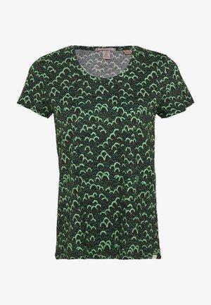 PRINTED BOXY FIT TEE - Print T-shirt - dark green