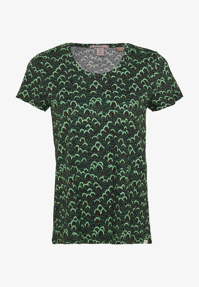 PRINTED BOXY FIT TEE - T-shirt imprimé - dark green