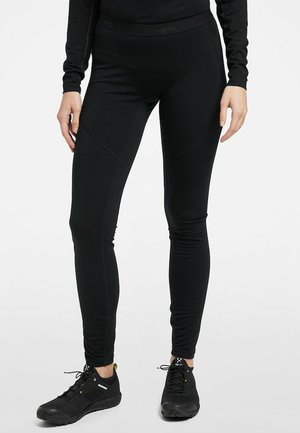 ACTIVES WOOL LONG JOHN - Tights - true black