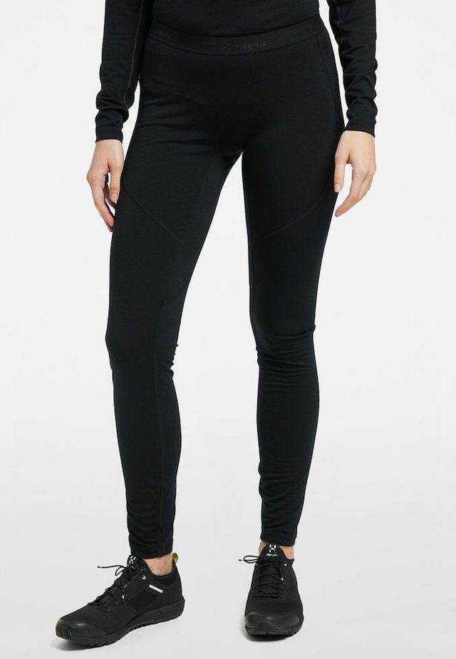ACTIVES WOOL LONG JOHN - Leggings - true black