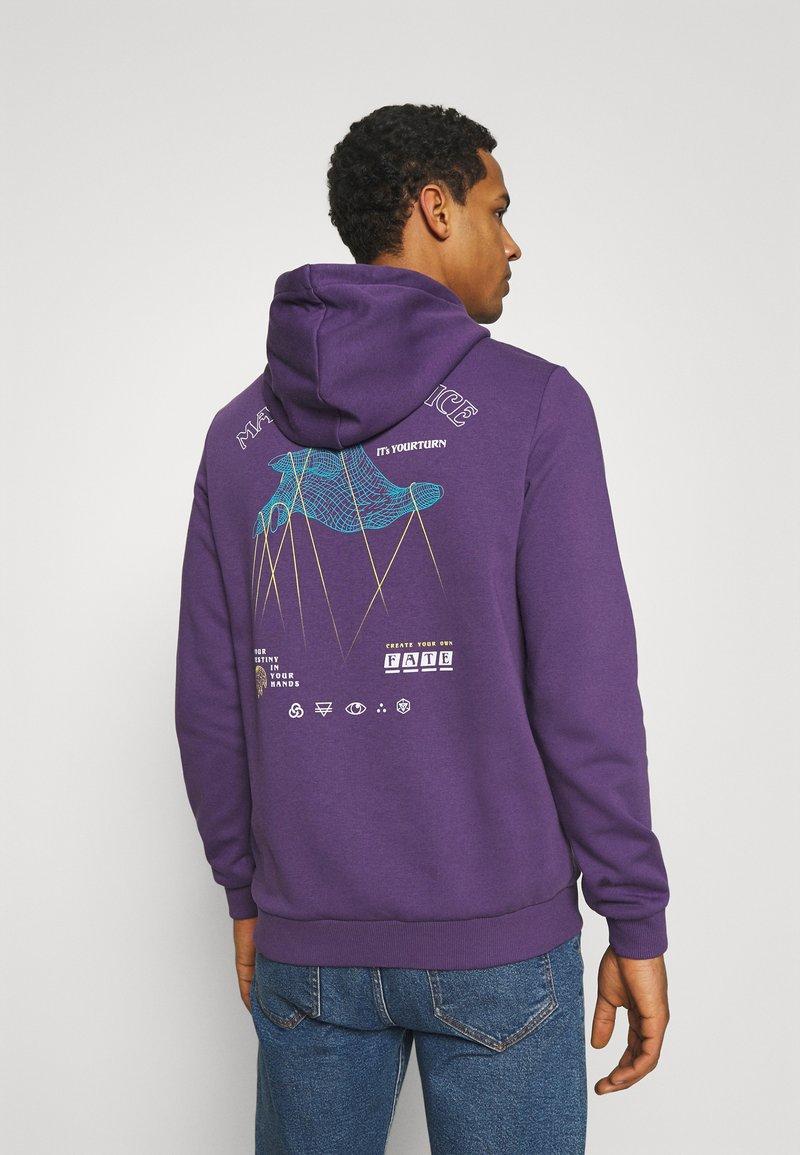YOURTURN - UNISEX - Bluza z kapturem - purple