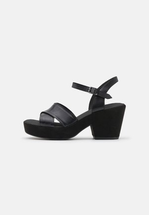 MARITSA STRAP - Korkeakorkoiset sandaalit - black