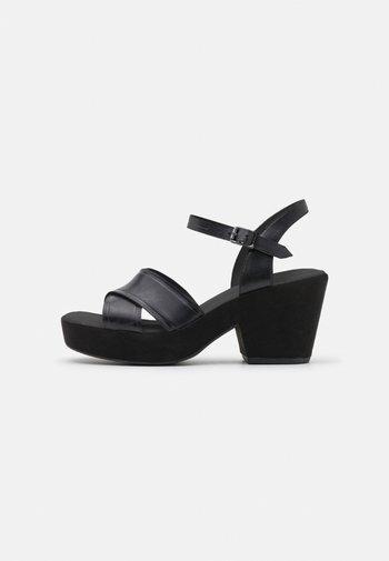 MARITSA STRAP - Sandály na platformě - black