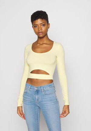 CUT OUT - Long sleeved top - yellow