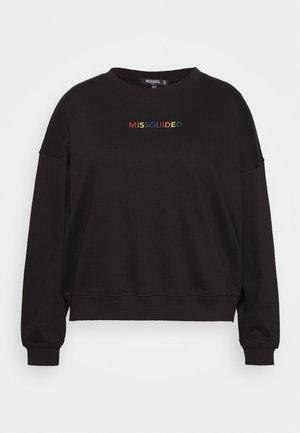 PLUS PRIDE SLOGAN  - Sweatshirt - black