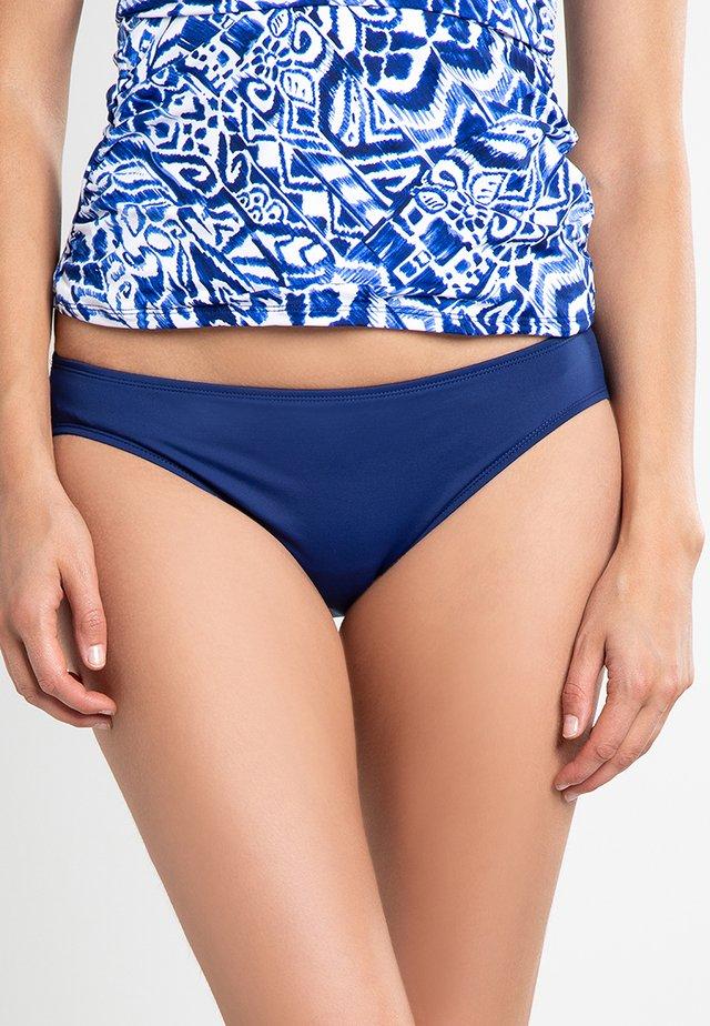 BCS SOLID HIPSTER LOGO PLATE - Bikini pezzo sotto - sapphire