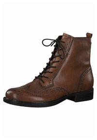 Tamaris - Lace-up ankle boots - cognac - 3
