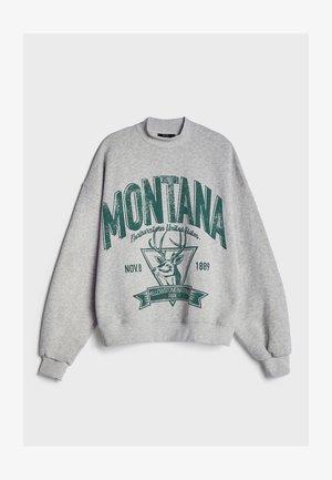 MIT SLOGAN UND PRINT  - Sweatshirts - dark grey
